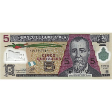 Guatemala 5 Quetzales 2013...