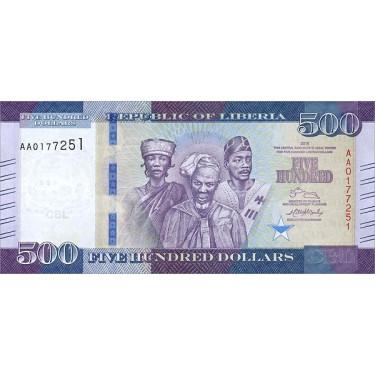 Liberia 500 dollars 2016 P-36a