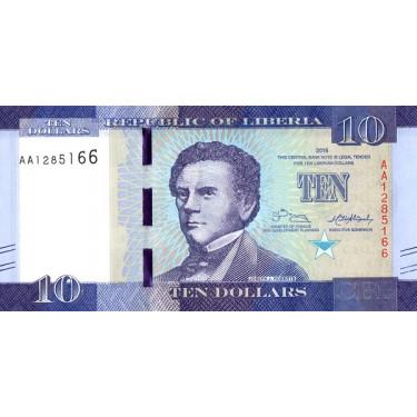 Liberia 10 Dollars 2016 P-32a