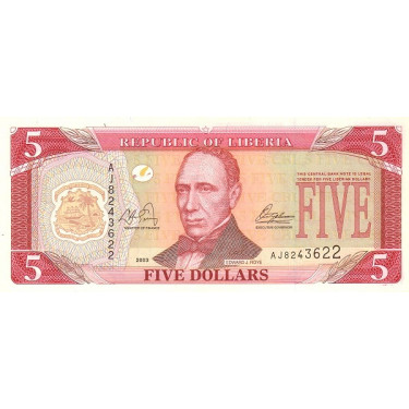 Liberia 5 Dollars 2003 P-26a