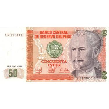 Peru 50 Intis 1987 P-131b