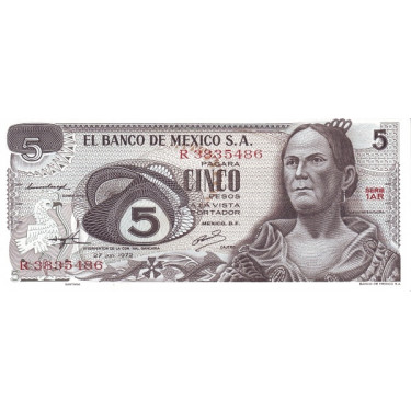 Mexico 5 Pesos 1972 P-62c1