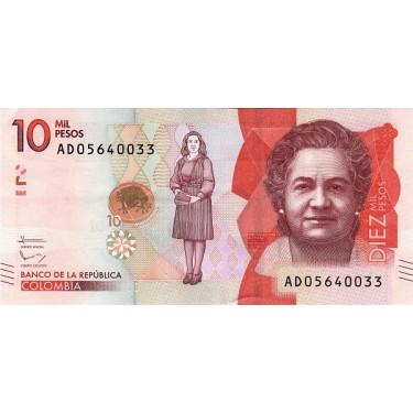 Colombia 10000 Pesos 2016...