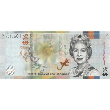 Bahamas 50 cents 2019 P-new