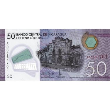 Nicaragua 50 Cordobas 2014...