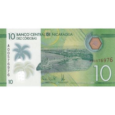 Nicaragua 10 Cordobas 2014...
