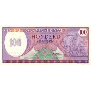 Suriname 100 Gulden 1985...