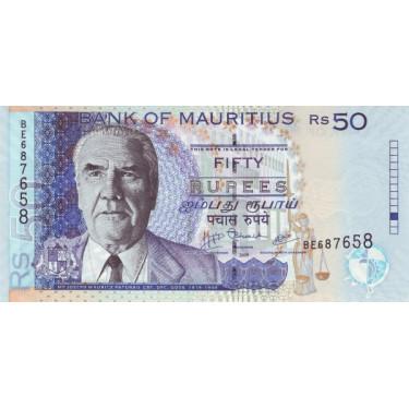 Mauritius 50 Rupees 2009 P-50e