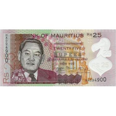 Mauritius 25 Rupees 2013 P-64