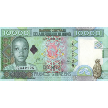 Guinea 10 000 Francs 2008...