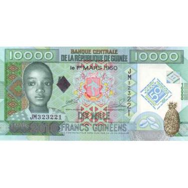 Guinea 10 000 Francs 2010 P-45