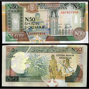 Somalia 50 Shillin 1991P-R2...