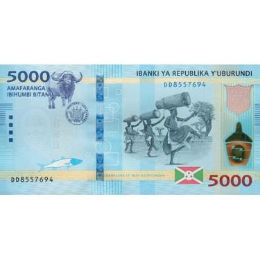 Burundi 5000 Francs 2018 P-53