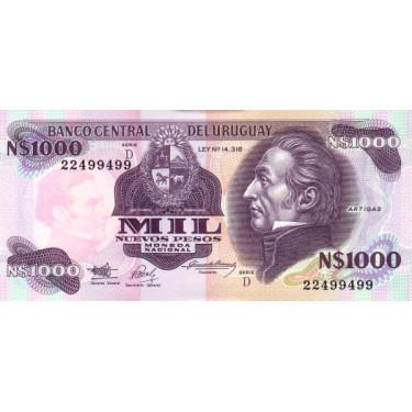 Uruguay 1000 Nuevos Pesos...