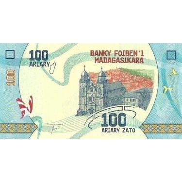 Madagascar 100 Ariary 2017...
