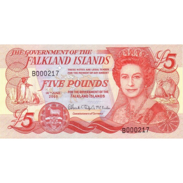 Falklandsöarna 5 Pounds...