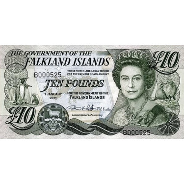 Falkland Islands 10 Pounds...
