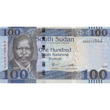 South Sudan 100 Pounds 2019...