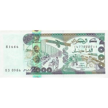 Algeria 2000 Dinars 2011...