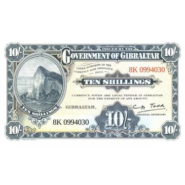 Gibraltar 10 Shillings 50...