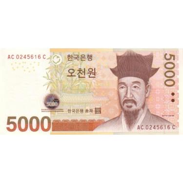 South Korea 5000 Won 2006...