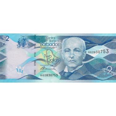 Barbados 2 Dollars 2016 P-73b