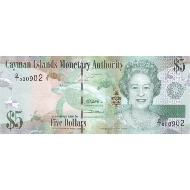Cayman Islands 5 Dollars...