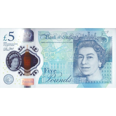 Great Britain 5 Pounds 2015...