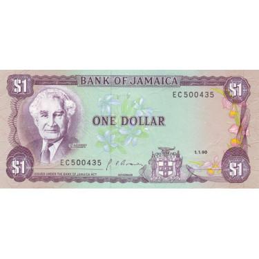Jamaica 1 dollar 1990 P-68Ad