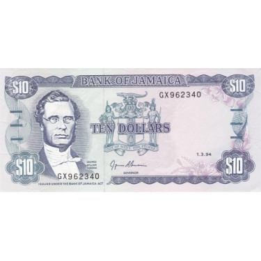 Jamaica 10 dollars 1994 P-71e