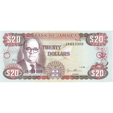 Jamaica 20 dollars 1995 P-69e