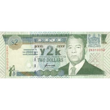 Fiji 2 Dollars 2000 P-102