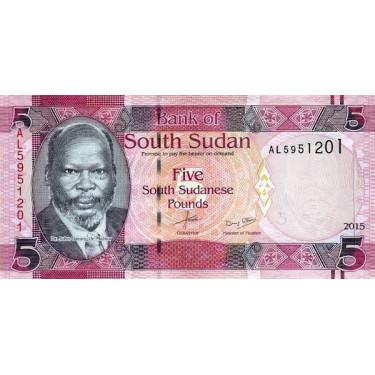 South Sudan 5 Pounds 2015 P-11