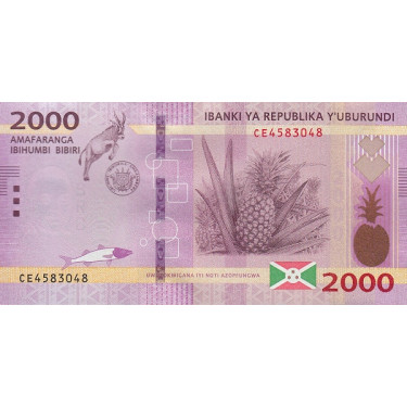 Burundi 2000 Francs 2018 P-52